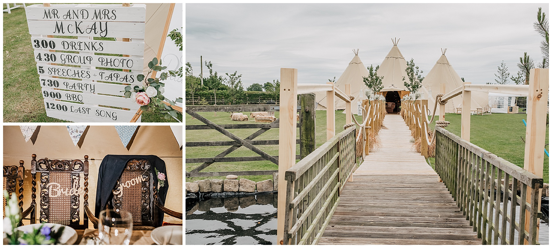 Oaklea Wedding Barn Teepee Wedding