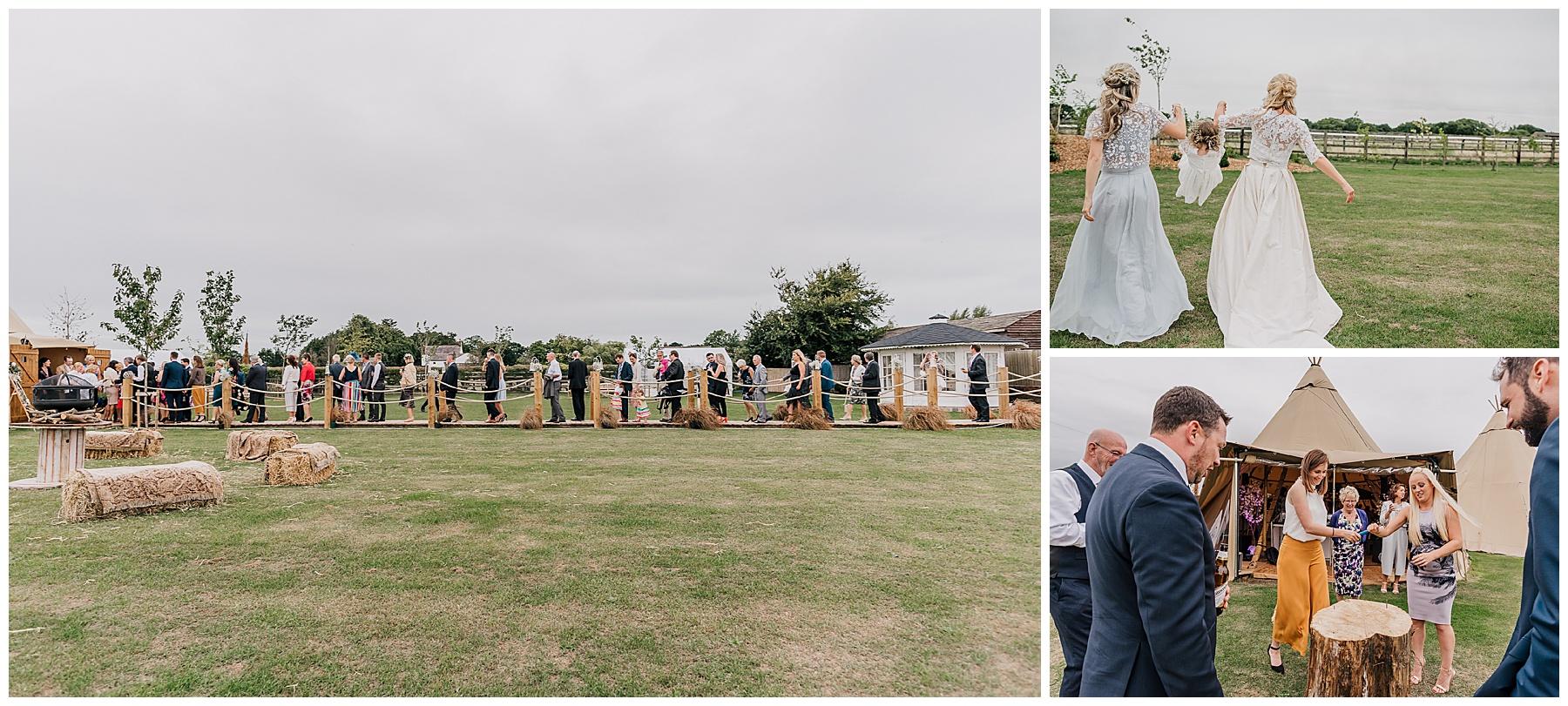 Oaklea Wedding Barn Teepee Wedding
