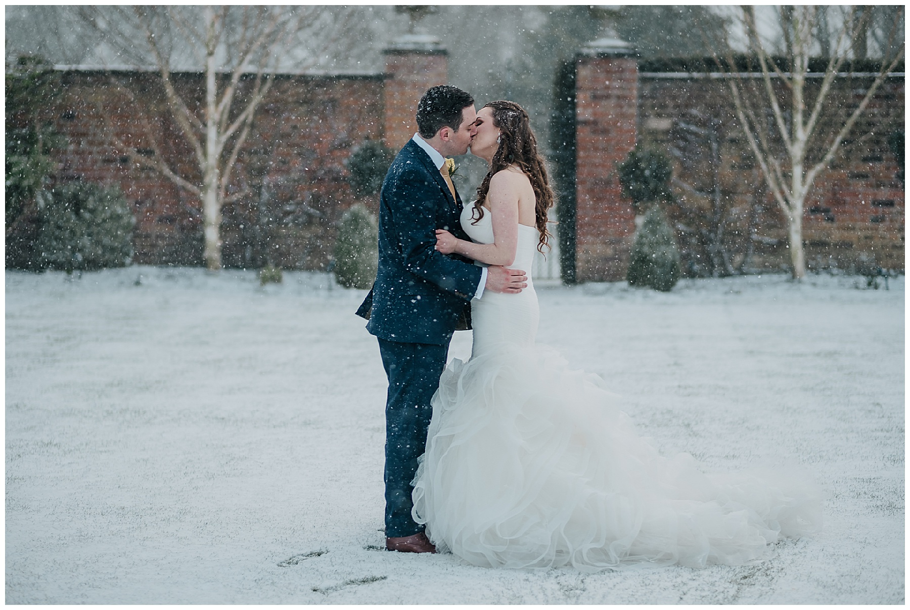 A Snowy Winter Wedding at Colshaw Hall