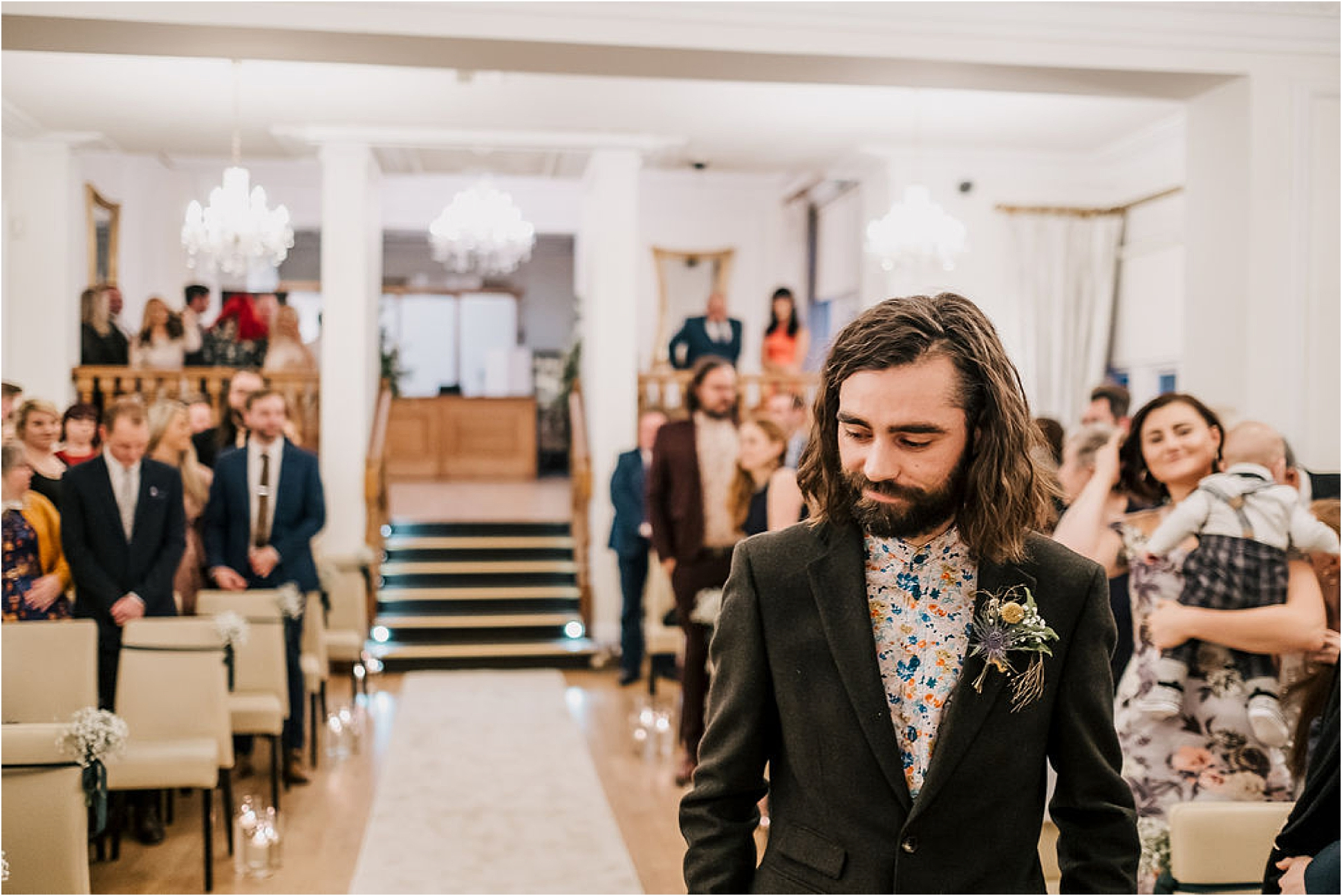 Katie and Liam's super cool twilight wedding at West Tower
